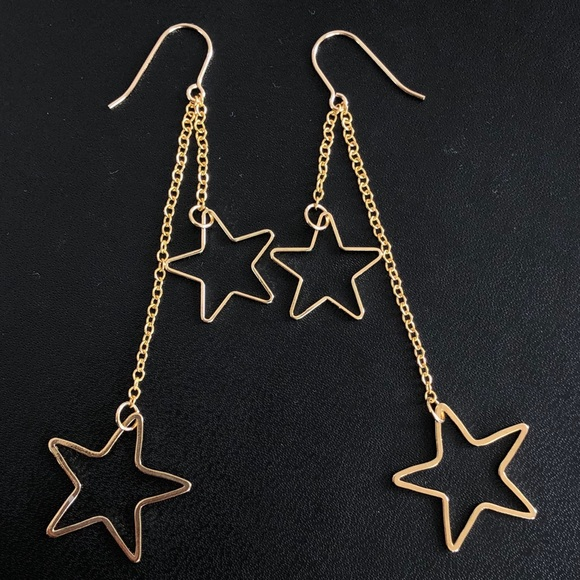 Shooting Stars 🌠 Gold Earrings - new! NWT
